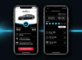 App servicio taxi de Tesla