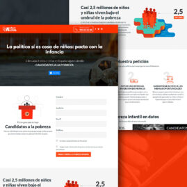 Landing page de Candidatos a la Pobreza