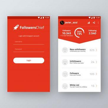 Diseño de la App para Followers Chief