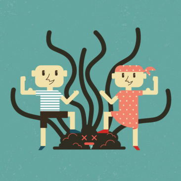 Ilustración Día Internacional del Niño con Cáncer