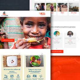 Landing page para la campaña de La Receta del Cambio