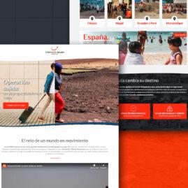 Landing page para la campaña de Operación Salida