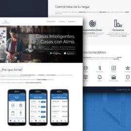 Diseño de la landing page para la app Alma