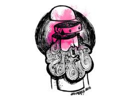 Ilustración cabeza rota