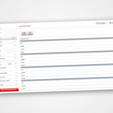 Diseño web fluido para aplicación Citröen y Peugeot
