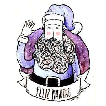 Ilustración felicitación Navidad