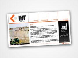 Diseño Web para IHTStone