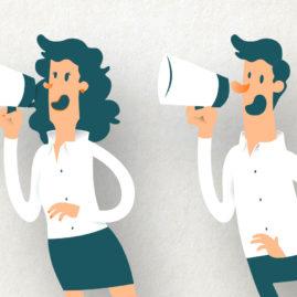 Ilustración vectorial de personajes