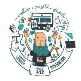 Ilustración vectorial para Javier Pérez