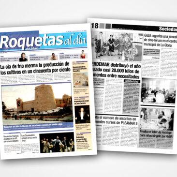 Maquetación de periódicos para La Voz de Almería