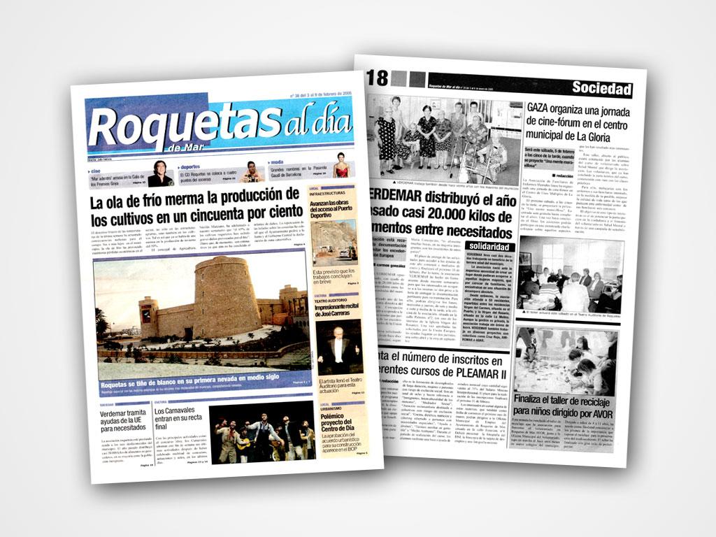 Maquetación de periódicos para La Voz de Almería - Javier Pérez