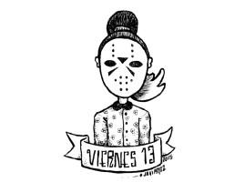 Ilustración Viernes 13 chica